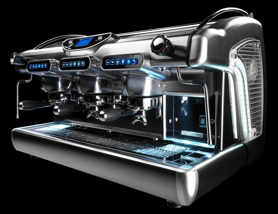 BFC Galileo 3-group espresso machine display